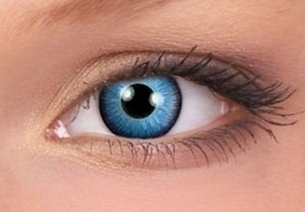 Space Blue Crazy Colour Contact Lenses (1 Year Wear)