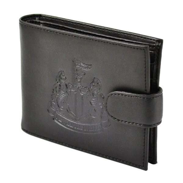 Newcastle United Crest Embossed Leather Wallet