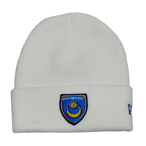 Portsmouth White Cuff Knitted Hat -56Cms