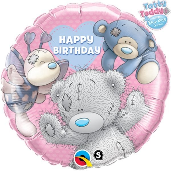 Qualatex 18 Inch Round Foil Balloon - Me To You - Blue Nose Friends Bday