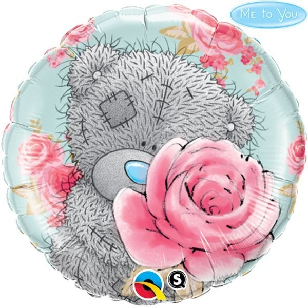 Qualatex 18 Inch Round Foil Balloon - Me To You - Tatty Teddy Roses