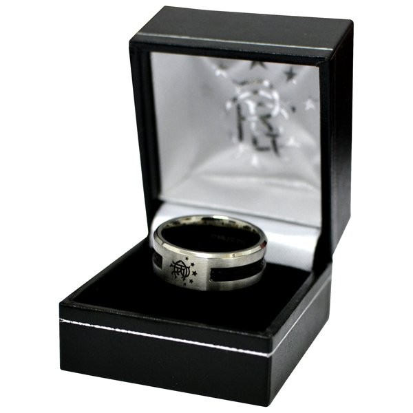 Rangers Black Inlay Ring - Large
