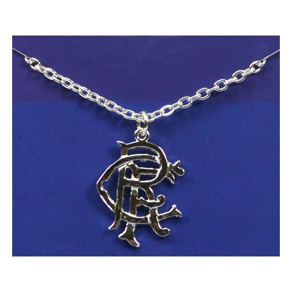Rangers Silver Plated Crest Pendant/Chain