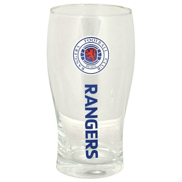 Rangers Wordmark Crest Pint Glass
