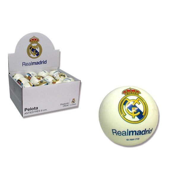 Real Madrid 6Cms Soft Ball -24PK