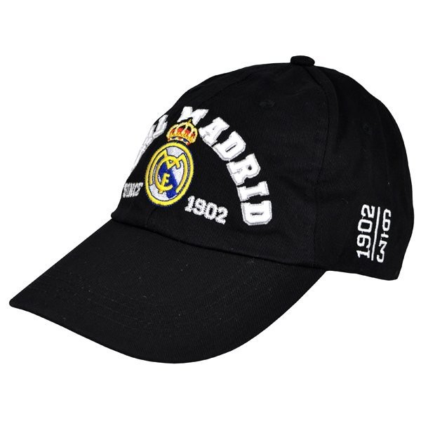 Real Madrid Baseball Cap - Black 1902
