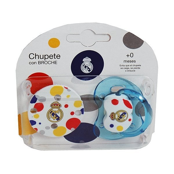 Real Madrid Soother and Clip Chain Set