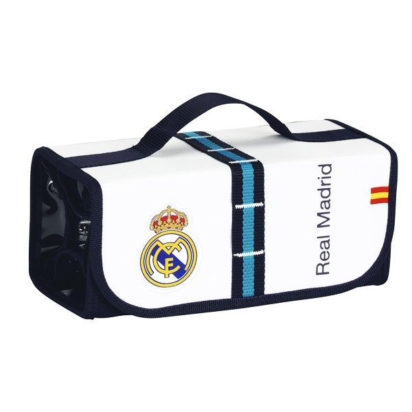 Real Madrid White Pull Down Pencil Case - 50 Pcs