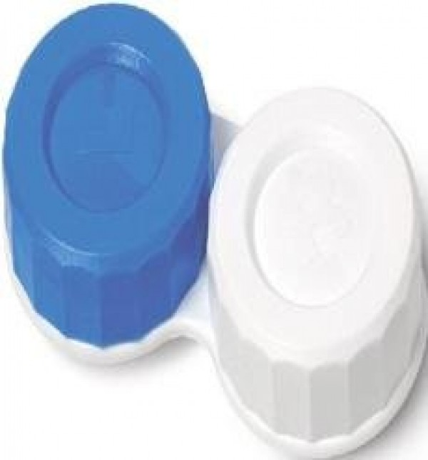 Standard Blue And White Contact Lens Storage Case