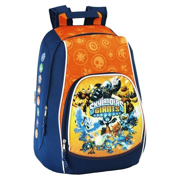 Skylanders Giants Orange Rucksack - 33Cms