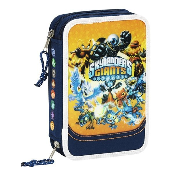 Skylanders Orange Double Filled Pencil Case - 34PCS