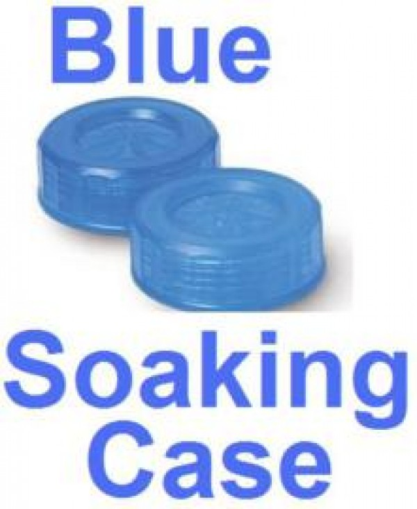 Electric Blue Contact Lens Soaking Case -Translucent Style