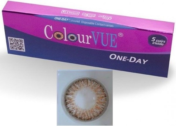 ColourVUE 5 Pairs Of Daily Wear TruBlends Hazel Coloured Contact Lenses