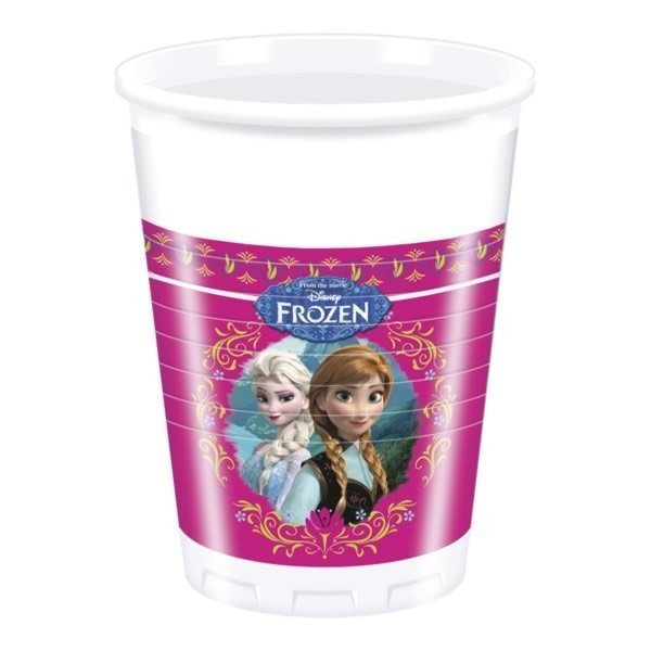 Unique Party 200ml Plastic Cups - Frozen