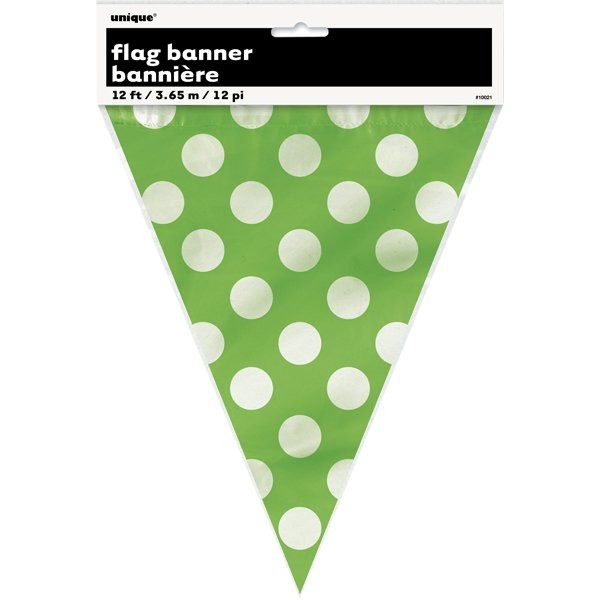 Unique Party Dots Bunting - Lime Green