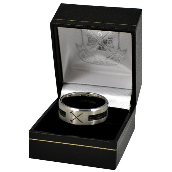 West Ham Black Inlay Ring - Large