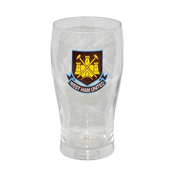 West Ham Crest Pint Glass