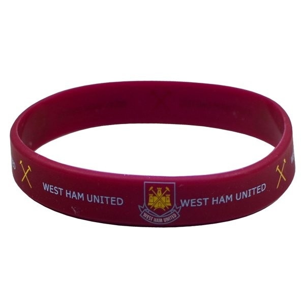 West Ham Rubber Crest Single Wristband