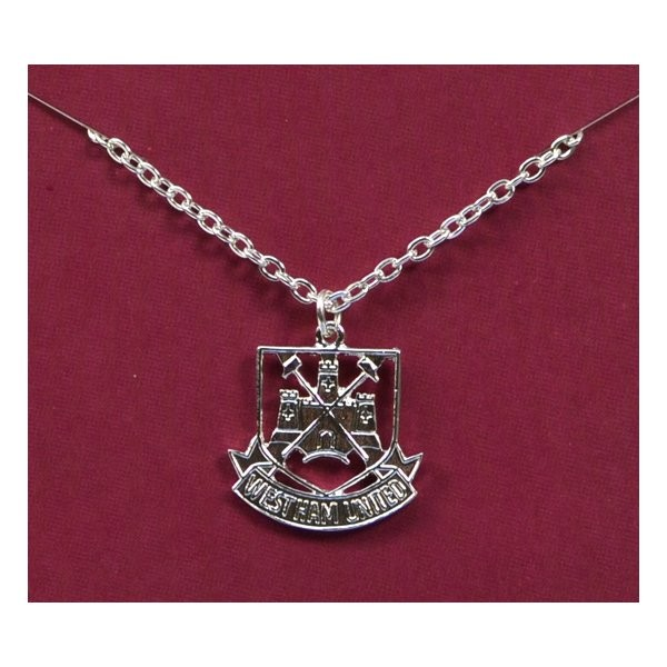 West Ham Silver Plated Crest Pendant/Chain