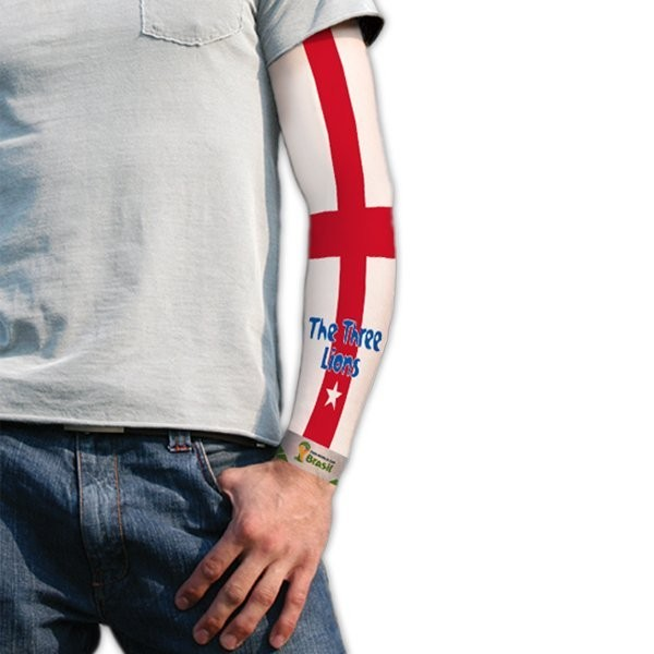 World Cup Tattoo Sleeve - England Three Lions