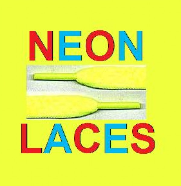 New Yellow Neon Laces For Shoes, Boots, Pumps & clubing