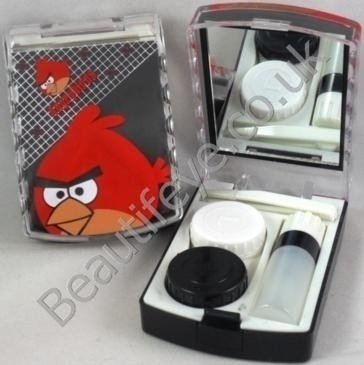 Angry Birds Designer Contact Lens Travel Kit With Mirror