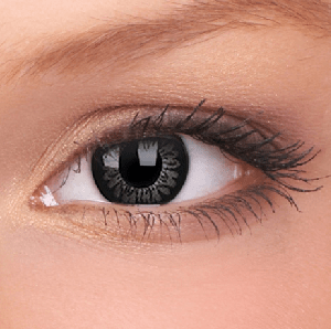Awesome Black Big Eye Coloured Contact Lenses (90 Day)