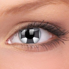 Black Cross Crazy Colour Contact Lenses (1 Year Wear)