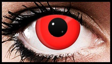 Red Halloween Coloured Contact Lenses (90 Days)