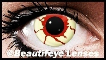 Blood Zombie Crazy Coloured Contact Lenses (90 Day Lenses)
