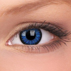 Blue Glamour Coloured Contact Lenses (90 Day)