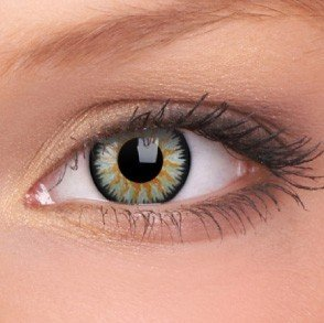 Green Glamour Coloured Contact Lenses (90 Day)