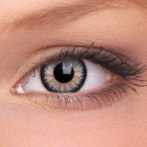 Grey Glamour Coloured Contact Lenses (90 Day)