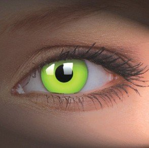 UV Glow Green Crazy Colour Contact Lenses (1 Year)