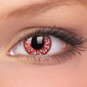 Blood Shot Crazy Colour Contact Lenses (1 Year Wear)