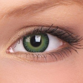 Fusion Yellow Green Coloured Contact Lenses (30 Day)
