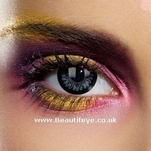 EDIT Big Eye Dolly Black Coloured Contact Lenses