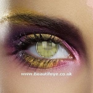 EDIT Colour Vision Yellow Mesh Contact Lenses