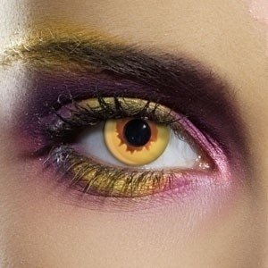 EDIT Crazy Gold Vampire Contact Lenses