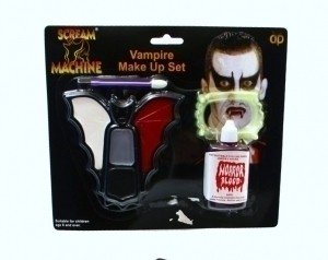 Halloween Vampire Makeup Set With Teeth And Blood
