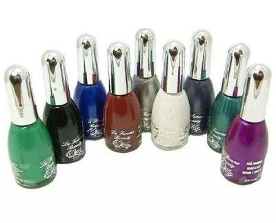 La Femme Set of 9 Nail Polish In The Vivid Collection Set Tray 4