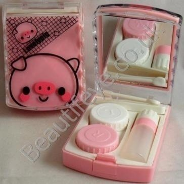 Lovely Pink Pig Designer Contact Lens Travel Kit
