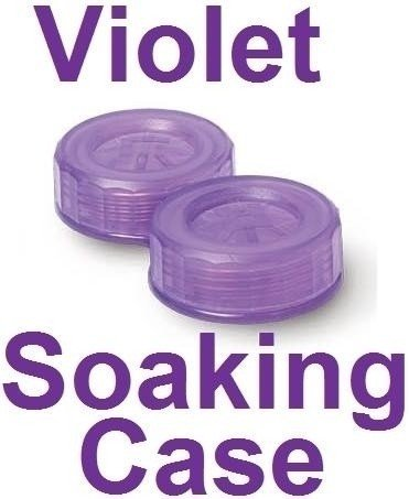 Neon Violet Contact Lens Soaking/Storage case