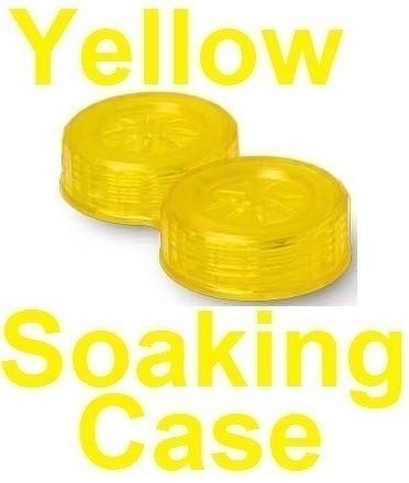 Neon Yellow Contact Lens Soaking/Storage case
