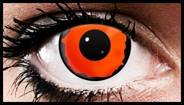 Orange Eclipse Crazy Coloured Contact Lenses (90 Days)