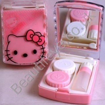 Pink Hello Kitty Designer Contact Lens Travel Kit