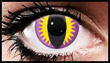 Purple Hawk Crazy Coloured Contact Lenses (90 days)