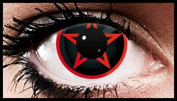 Red Pentagram Crazy Coloured Contact Lenses (90 Days)