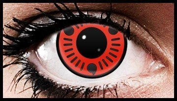 Sasuke Sharingan Coloured Contact Lenses (90 Day)