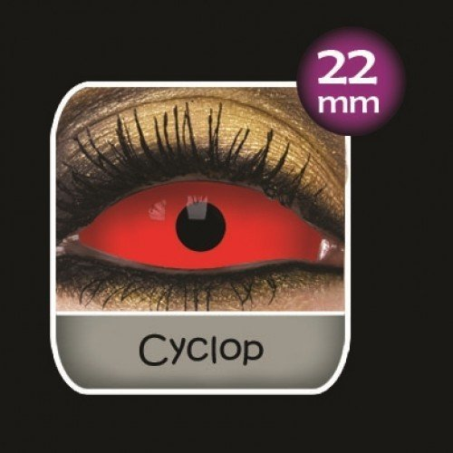 Red Cyclop Sclera Full Eye Contact Lenses 22mm (6 Month)
